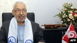 Rachid Ghannouchi, the founder of the Ennahda party
