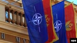 Zastave NATO-a i Crne Gore