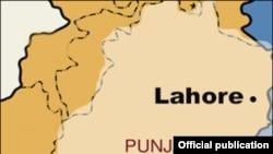 د پاکستان د لاهور ښار نقشه