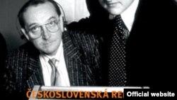 Detaliu de pe coperta volumului despre redacția cehoslovacă a Europei Libere de Prokop Tomek.