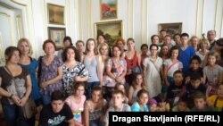 Deca iz Dečjeg sela Kraljevo tokom posete Pragu