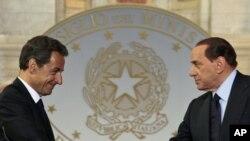 Лидеры Франции и Италии - Николя Саркози и Сильвио Берлускони