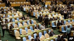 Many Western delegates walked out during Iranian President Mahmud Ahmadinejad's speech to the UN General Assembly on September 22.