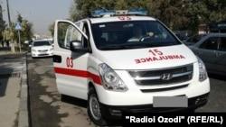 Машина скорой помощи в таджикской столице