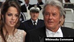 Alain Delon qızı ilə