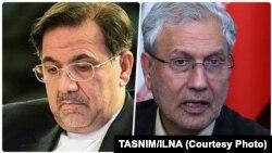 از راست: علی ربیعی و عباس آخوندی