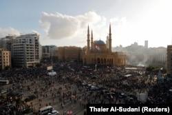 Demonstrațiile de după explozii. Beirut, Liban, 8 august