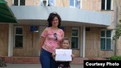 Ольга Тимофеева с дочерью.