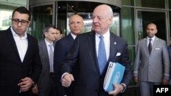 دیمیستورا در سوریه با وزیر خارجه دولت بشار اسد دیدار کردهاست