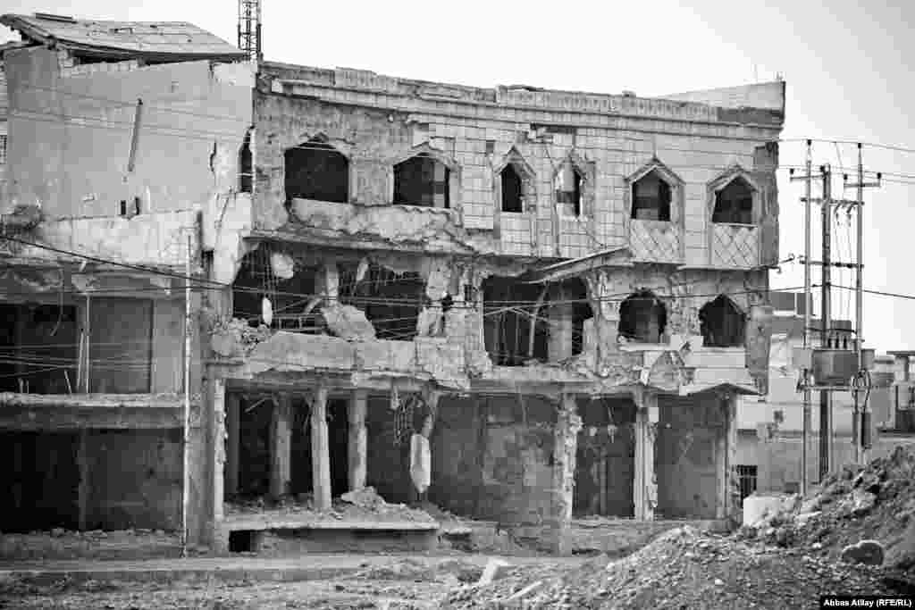 This government building in Kirkuk was largely destroyed by a suicide bombing in which more than 30 people died.