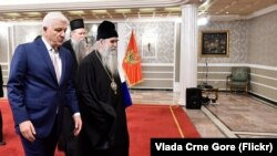 Sastanak crnogorskog premijera Duška Markovića i mitropolita crnogorsko-primorskog Amfilohija u Podgorici, 14 februar 2020