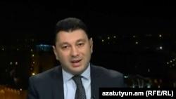 Armenia - Edward Sharmazanov, Armenian Parliament's vice-speaker, at Azatutyun TV's Yerevan studio, 21Nov,2014