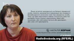 Голова Нацагентства з питань запобігання корупції Наталія Корчак