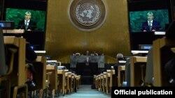 Сессионный зал Генассамблеи ООН. Иллюстрационное фото