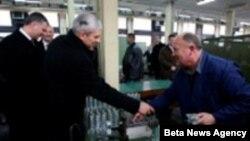 "Boris Tadić u Fabrici ""Krušik"" u Valjevu"
