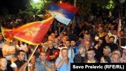 Sa protesta DF-a, Podgorica, 4. oktobar 2015.