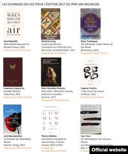 Volumele anului propuse pentru Premiul Jan Michalski