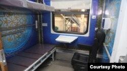 Вагон поезда, предназначенный для людей с ограниченными возможностями. Фото с сайта пресс-службы АО «Узбекистон темир йуллари».
