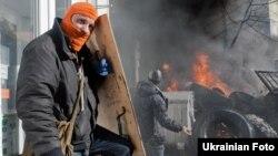 Правительственный квартал Киева 18 февраля