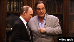 More than a year after dubious Twitter claims had been discredited, Russian President Vladimir Putin (left) tried to reinject them into the debate about the downing of MH17 during interviews with film director Oliver Stone.