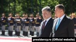 Președinții Petro Poroșenko și Klaus Iohannis, București, 21 aprilie 2016