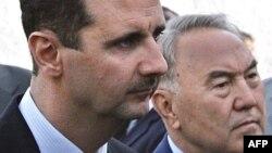 Қазақстан президенті Нұрсұлтан Назарбаев (оң жақта) пен Сирия президенті Башар Асад. Дамаск. 6 қараша 2007 жыл.