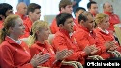 Олимп оюндарына катышкан Кыргызстан спортчулары.