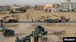Pozicionet e forcave qeveritare afgane gjatë luftës kundër talibanëve për qytetin Kunduz
