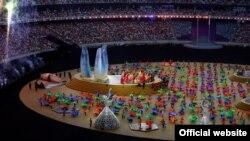 Падчас цырымоніі закрыцьця першых Эўрапейскіх гульняў у Баку