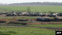 Російський військовий табір Ростовській області, за 50 кілометрів від українського кордону