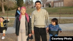 Uzbek immigrant Jamshid Muhtorov and his family.