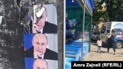 Posterë të Vladimir Putinit në veri të Mitrovicës - Fotografi nga arkivi