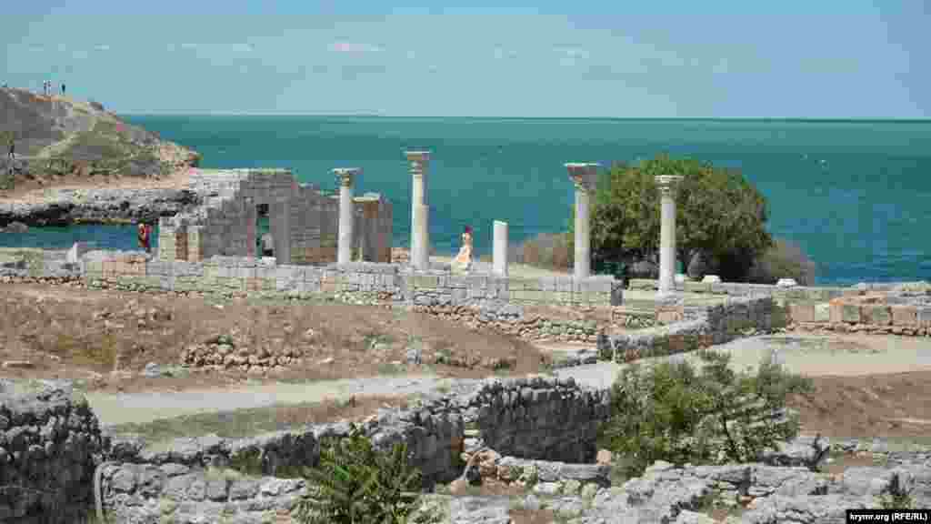 Руины античного храма в северном районе заповедника – самый известный объект