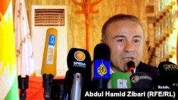 المعارض الكردي السوري عبد الحكيم بشار يتحدث في أربيل