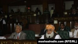 مولانا فضل الرحمن د جمعیت العماء اسلام مشر ټول ګوندیز کانفرنس کې.