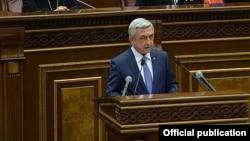 Бывший президент Армении Серж Саргсян (архив)