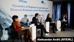 "Učesnici konferencije ""Dinamika regionalne saradnje i bilateralni odnosi na Zapadnom Balkanu"" u Beogradu 4. decembra"