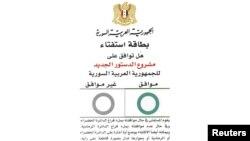 Draft-dokumenti për votimin e rezolutës për Sirinë