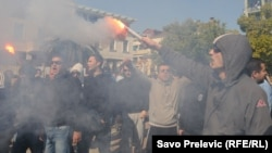 FOTOGALERIJA: Antivladine demonstracije u Podgorici, februar 2012.