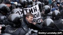 Задержания на акции в Москве, Россия, 28 января 2018 года