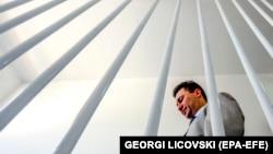 Tadašnji makedonski premijer Nikola Gruevski u obilasku renoviranog zatvora Šutka, avgust 2009.