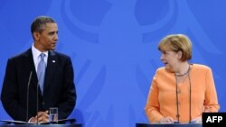 Barak Obama i Angela Merkel