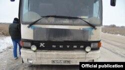 Автобус с узбекскими мигрантами, направлявшийся из Ростова-на-Дону в Ташкент.