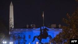 Вид на Белый дом в Вашингтоне. 2 апреля 2017 года.