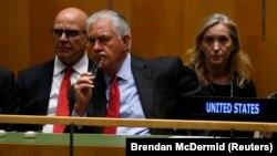 ԱՄՆ պետքարտուղար Ռեքս Թիլերսոնը մասնակցում է ՄԱԿ-ի Գլխավոր ասամբլեայի 72-րդ նստաշրջանին, Նյու Յորք, 19-ը սեպտեմբերի, 2017թ․