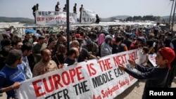 Протест мигрантов на границе между Грецией и Македонией (6 апреля 2016 года)