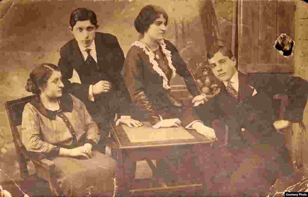 "Many people take bittersweet pride in the illustrious past of their families in the early years of the 20th century. Oleh Hubar, a well-known city historian in Odesa, describes his forebearers as a ""big mix of ethnicities and religions."" His grandparents Maria and Lev Hubar (both on the right, pictured in 1916) were considered part of the city's prerevolutionary elite. A generation later, many of his relatives would be killed in Odesa's Jewish pogroms."