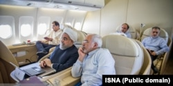 Rohani at a computer inside the 20-year-old European-made jet.