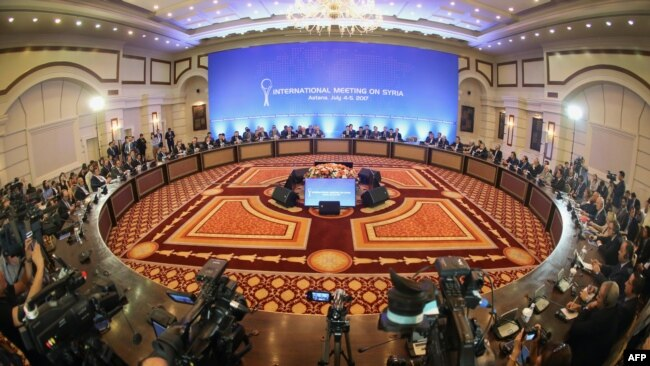 One of the areas where Kazakhstan has shown its independence has been in hosting Syria peace talks in Astana. (file photo)