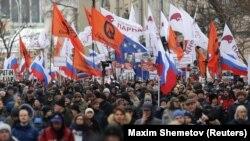 Марш памяти Бориса Немцова, Москва, февраль 2019 года